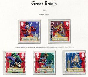 S3014-UK-Great-Britain-1992-MNH-Sir-Arthur-Sullivan-5v