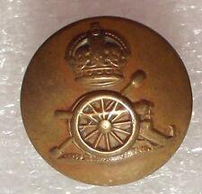 Vintage brass button Royal Regiment of Artillery JENNENS Gunners Kings crown