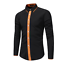 Fashion-Mens-Luxury-Casual-Stylish-Slim-Fit-Long-Sleeve-Casual-Dress-Shirts-Tops thumbnail 3