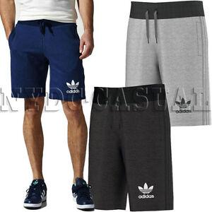 Adidas Originals 3 Rayures Homme Fleece Shorts Trefoil