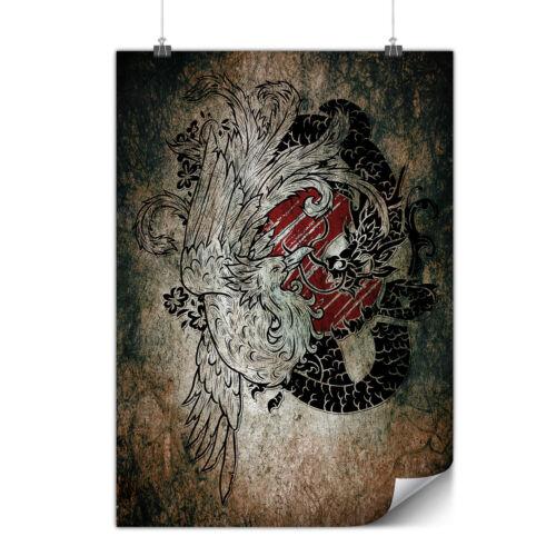 Yin Yang Beast Fantasy Matte//Glossy PosterWellcoda