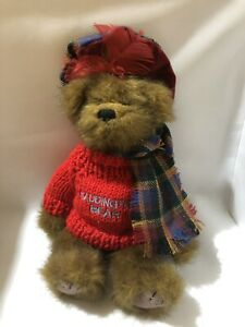 Ronnie-Hek-Hamish-Escoces-Tartan-De-Oso-De-Peluche-Juguete-Suave-Escocia-en-muy-buena-condicion