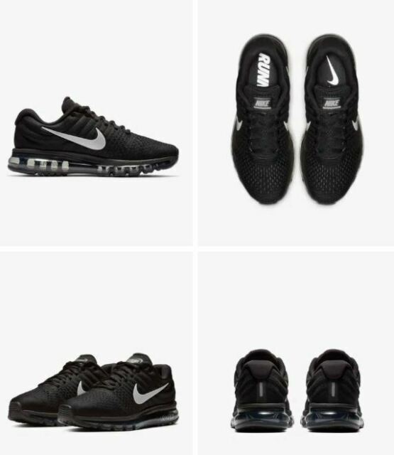NEW NIB Men's Nike AIR Max 2017 Shoes Sneakers Torch 849559 001 Black