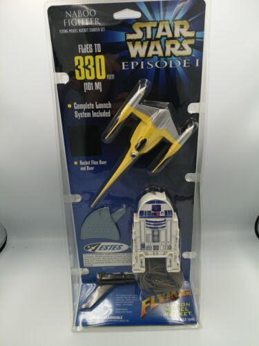 Star wars episode 1 Naboo Fighter Flying Rocket Toy Dead Stock 1999