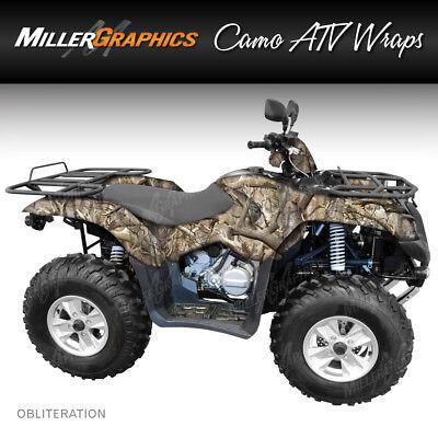 ATV Graphics Kit Decal Sticker Wrap For Honda Rancher AT 2007-2013 REAPER BLACK