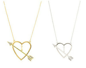 NIB-JUICY-COUTURE-Valentine-039-s-Love-Heart-amp-Arrow-Pendant-Necklace-in-Gift-Box
