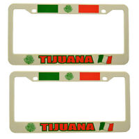 tijuana Mexico City Plastic License Plate Frame 2 Piece