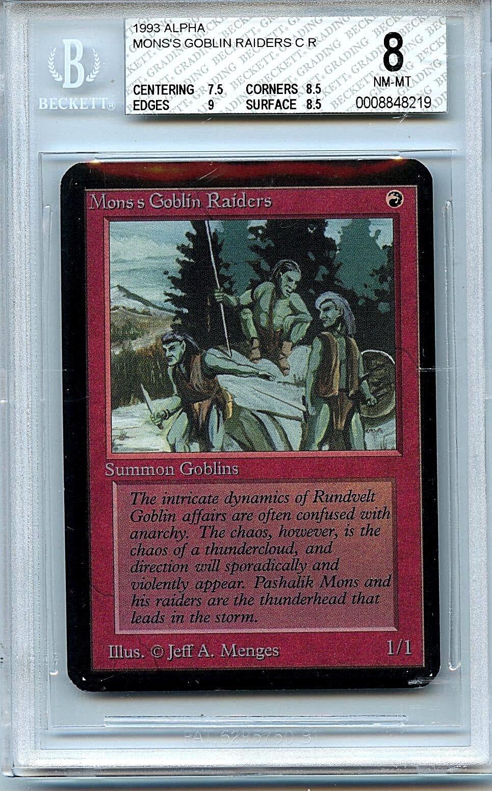 MTG Alpha Mon's Goblin Raiders BGS 8.0 NM MT card Magic the Gathering WOTC 8219