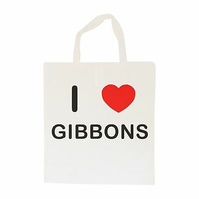 I Love Gibbons - Cotton Bag | Size choice Tote, Shopper or Sling