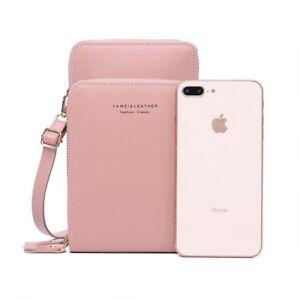 Small Leather Messenger Bag Handbag Phone Shoulder Case Ladies Wallet Outdoor