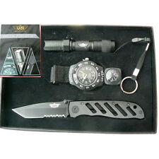 UZI Special Forces Gift Set UZI Couteau + Lampe-Torche + Montre UZISFS1