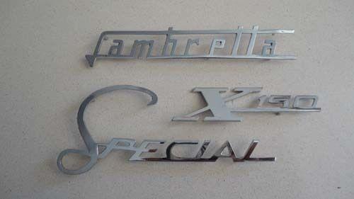 Lambretta SX Special 150 chrome emblems logos badge L9079