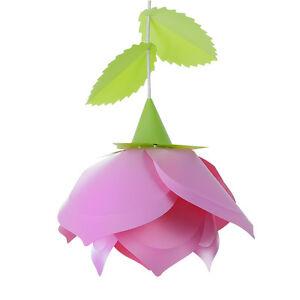 Diseno-Rosa-Rosa-Verde-Floral-Colgante-De-Techo-Sombra-Facil-Ajuste-Childrens-bedroom