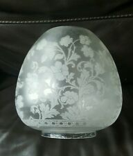 """Victorian Best Quality Engraved Crystal Etched Glass Oil Lamp Shade Duplex 4"""" A1"""