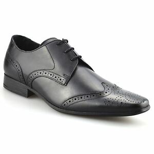 mens leather formal office smart casual italian lace up