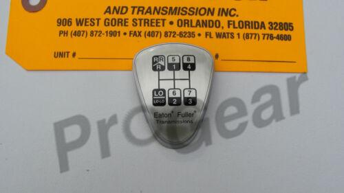 "Genuine Fuller transmission shift knob medallion 8LL Reverse /""H/"" Pattern 5586116"