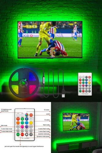 LED TV Backlight Customized USB LED Light 75 Inch Strip Covers RF Remote 6 Modes