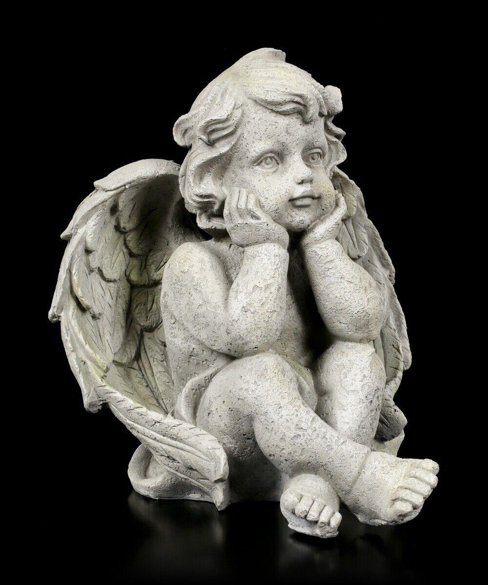 Ángel Figura de Jardín - Joven Mira Soñando - Decoración la Guarda Estatua