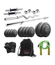Body Fit 36 Kg Home Gym, 5 Ft Rod, 3 Ft Curl Rod, 14 Inch Dumbbells, Gym Bag,Glo