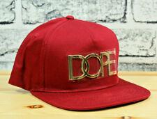 super popular c29b5 0bb86 Dope Mens Hat Baseball 24K Gold Logo Snapback Cap Burgundy