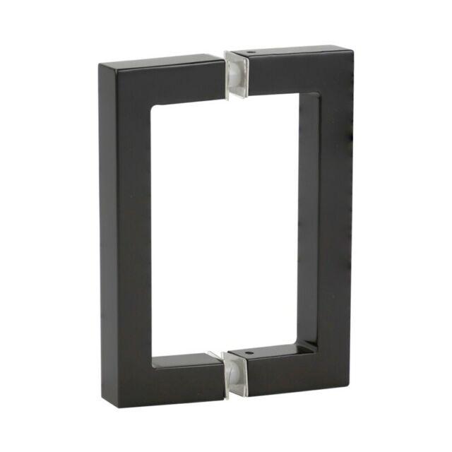 """ELEGANT Back-to Back Pull Handles 6/"""" Length Tubular Chrome Shower Door handles"""