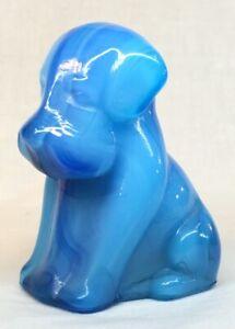 Boyd-Art-Glass-Peacock-Blue-Swirl-Pooch-Dog-121-Made-8-16-1999