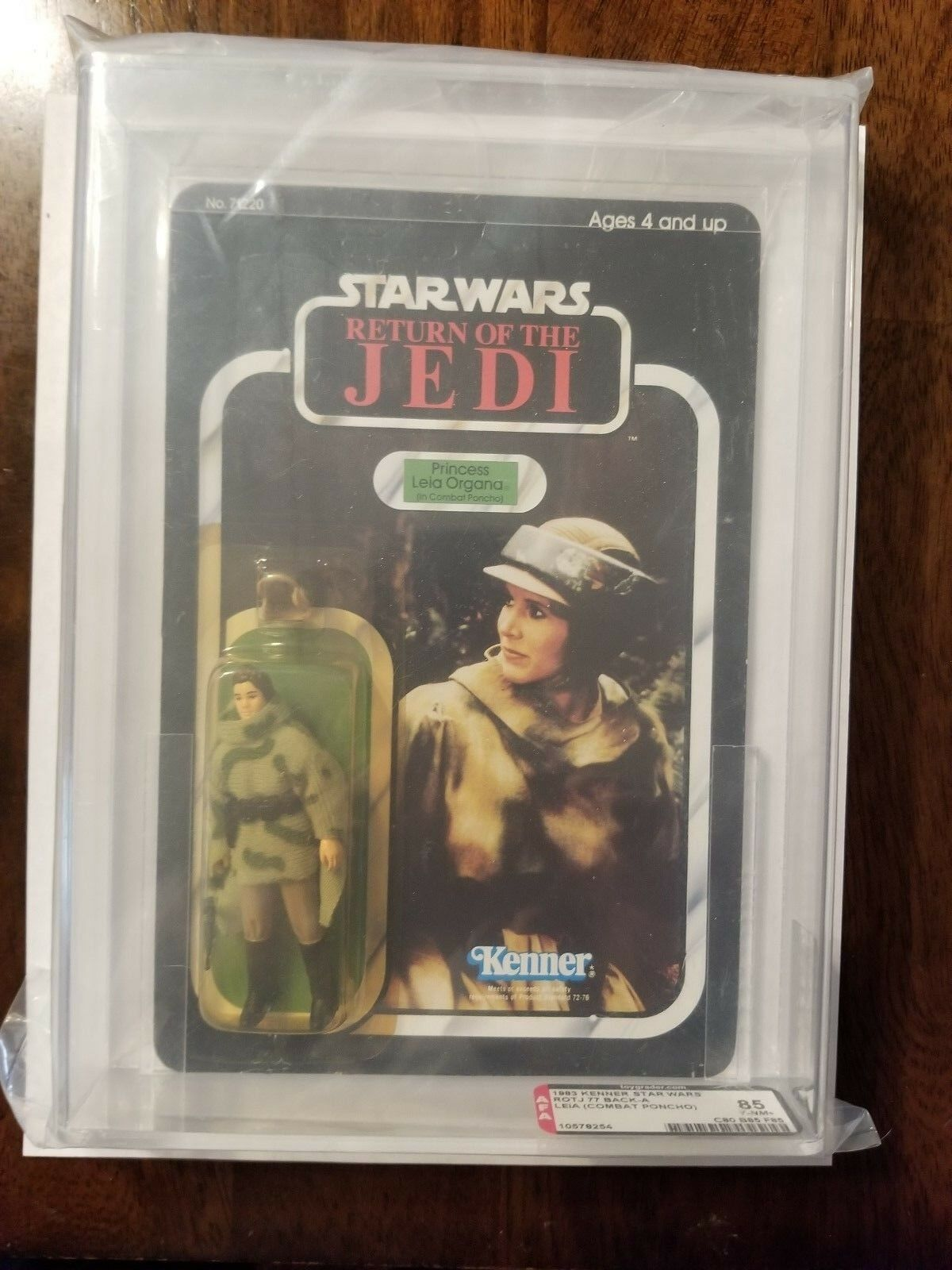 Star Wars Vintage Vintage Vintage Princess Leia in Battle Poncho AFA 85 C80 B85 F85 NM 7acbc4
