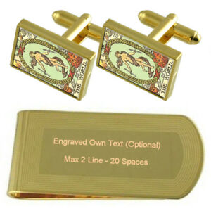 Select Gifts Tarot World Card Cufflinks with Pouch