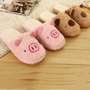 Hot Sell Cute Women Lady Bear Velvet Anti slip Slippers Indoor House Soft Warm