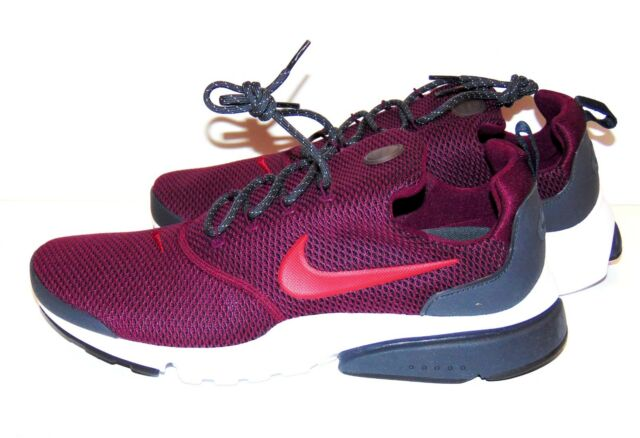 6db98d6b3496 Nike Presto Fly SE Men s Running Shoes 908020 Size 11 Bordeaux Red  Anthracite