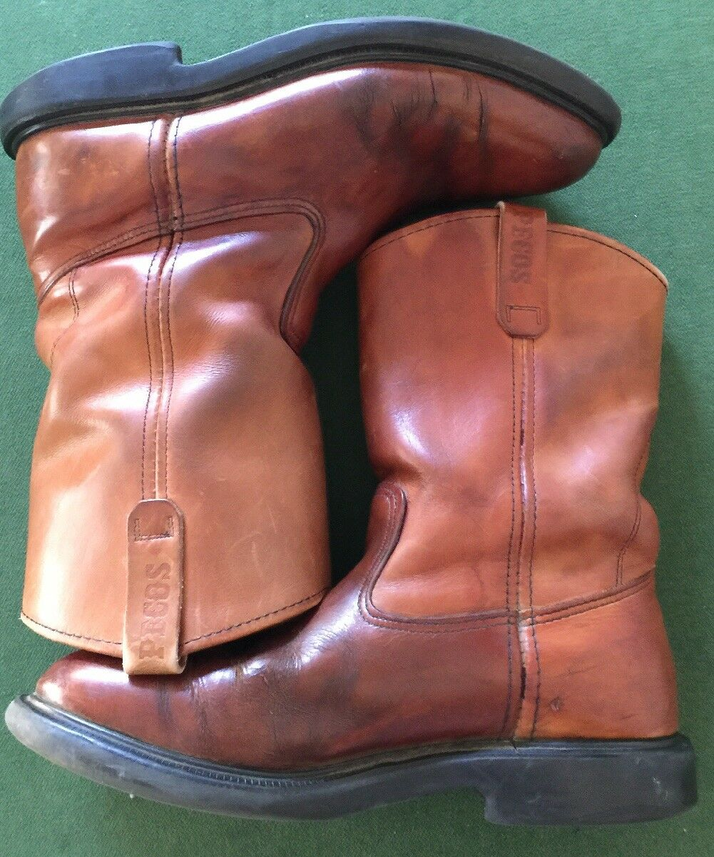 Rossowing SuperSole PECOS Leather Boots Size 10C Model #1104 Made in USA