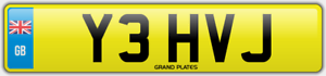 VJ-Number-plate-INITIALS-Y3-HVJ-CHERISHED-REGISTRATION-YEH-ROAD-LEGAL-CAR-REG