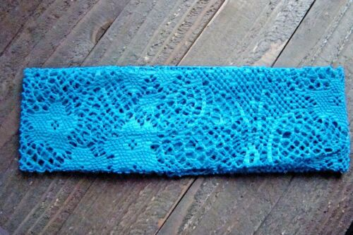 Crochet Headband Knit Woven Lace Stretch Wide Wrap Hair Accessory Polyester