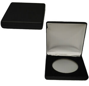 AirTite-Display-Steel-Box-Black-Leatherette-For-Z-size-Coin-Holders-Protection