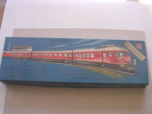 Distler 18 Piezas, Con Pilas Train Set En Caja Original un verdadero alemán Juguete