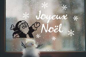 Détails Sur 1 Sticker Père Noël Joyeux Noël Blanc Rouge Noir 32cm