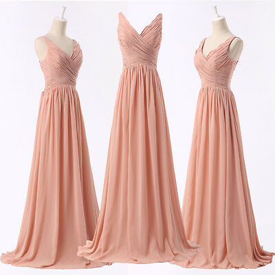 Sexy Long Formal Evening Bridesmaid Dress Party Prom Dresses Wedding Ball Gowns