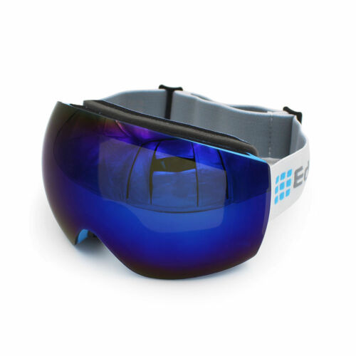 Men Ski Goggles Snow Anti Fog Dual Lens UV Protection 3 Layers Foam with POUCH