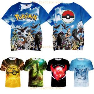 2019-Pokemon-Pikachu-3D-Print-Anime-T-Shirt-Men-Women-Casual-Short-Sleeve-Tee