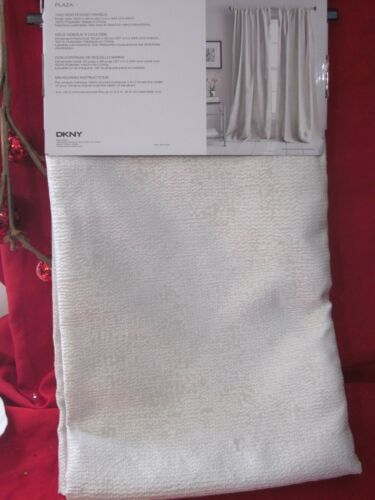 DKNY PLAZA Rod-Pocket DRAPES GRAY SILVER Textured PANELS SET 2 50 x 96 CURTAINS