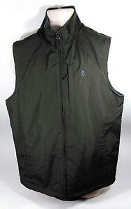 IZOD-Green-Polar-Fleece-Lined-Multi-Seasonal-Men-039-s-Sleeveless-Vest-Size-Med
