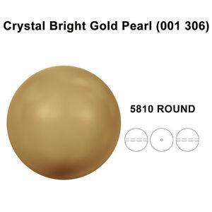 CRYSTAL-BRIGHT-GOLD-PEARL-001-306-Genuine-Swarovski-5810-Round-Pick-Sizes
