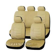 Leder Kunstleder Sitzbezug Sitzbezüge Bezug Beige #4 für BMW und Mini