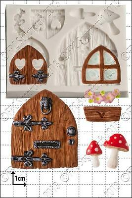 Silicone mould Fairy Door & Windows | Food Use FPC Sugarcraft FREE UK shipping!