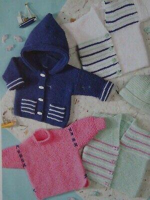 baby child jacket dk knitting pattern 27