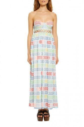 NWT NWT NWT Mara Hoffman leis lattice strapless dress   leis - size 6  312 7d2c35