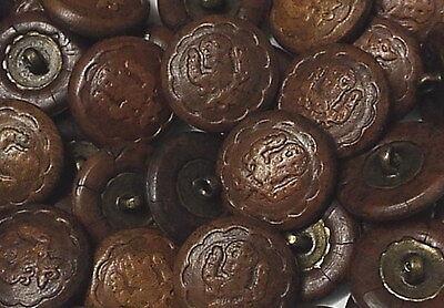 a202sb-20//21mm 6 silber-braune Wappenknöpfe aus Metall für Blazer
