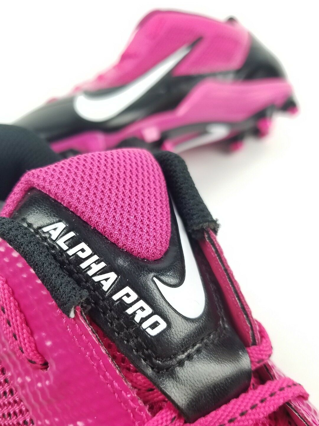 81146eb0b211 ... Men Nike Pink Black Alpha Pro TD TD TD Flywire Football Shoe Cleats  579545-016 ...