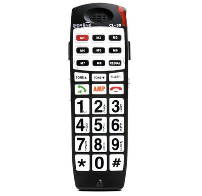 Serene Innovations SI-CL-65 Cordless Phone Amplified Talking /& Caller ID