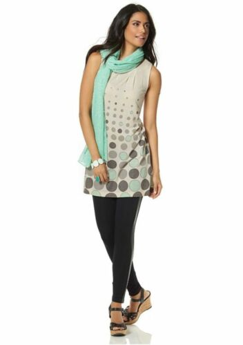 Chillytime Top Longtop//tunique 60er-style Dots Points Viscose
